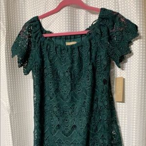 dark green lace dress never worn